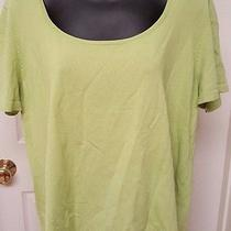 Talbots Woman's Plus Green Shirt Size 1x Photo