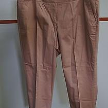 Talbots Woman Sandy Pink Cotton/spandex Blend Cuffed Capris Size 16w 13215 Photo