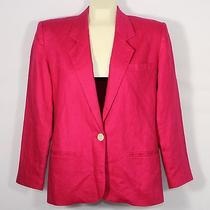 Talbots Womens 4p Rose Colored Fully-Lined Long-Sleeved Linen Jacket Photo
