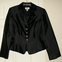 Talbots Women's Black Dress Button Blazer Size 8 / Medium M New Without Tag Photo