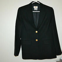 Talbots Women's Black Wool Blazer With Gold Buttons - Size 4. Photo