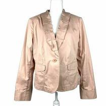 Talbots Women's Blush Pink Cotton Jacket Blazer Size 14 Photo
