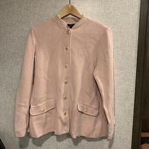 Talbots Womens Jacket Coat Sweater Plus Size 1x Rose Blush Pink Cotton Rayon Photo