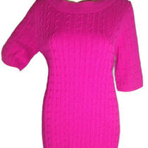 Talbots Women's Pink Cable-Knit Sweater- Size Large Photo