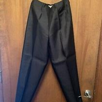 Talbots Women's Size 6 Pure Silk Black Pants Side Zipper Photo
