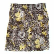 Talbots Women's Skirt Size 8  Yellow  Cotton Spandex  Good Condition Photo