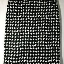 Talbots Women's Sz 6p Black White & Gray Pencil Skirt  Photo