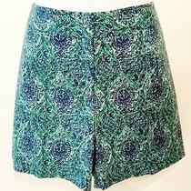 Talbots Womens 4 Blue Flat Front Shorts  Photo