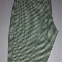 Talbots Womens Bermuda Shorts 6 Green & White Check Walking Photo