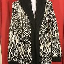 Talbots Womens Black Beige Thick Cardigan Sweater M P Petites Nwt 139 Photo