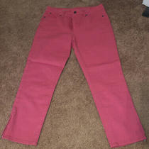 Talbots Womens Heritage Crop Blush Denim Jeans Size 6 Zipper Legs Photo