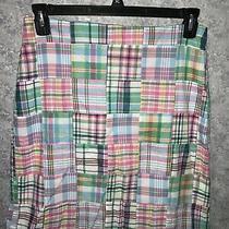 Talbots Womens Pastel Madras Plaid Skirt Size 8 Nwt Photo
