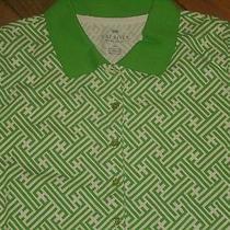Talbots Womens Petite Short Sleeve Polo Shirt Xp Green New Photo