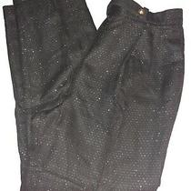 Talbots Womens Suit Pants Sz 12 Black/gold Photo