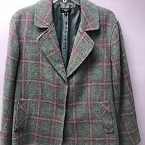 Talbots Wool Gray and Purple Blazer Size 24w Photo