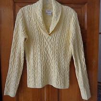 Talbots Yellow Cotton Blend Sweater - Large - Never Worn Photo