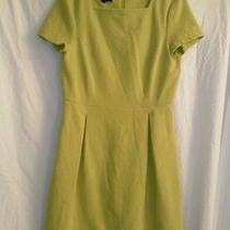 Talbots Yellow Short Sleeve Corded Casualtulip Dress Size 6 Photo