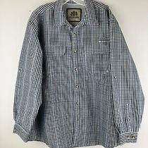 Tallwoods Mens Fishing Shirt Xl Vented Back Plaid Outdoor Camping Element Wear  Photo