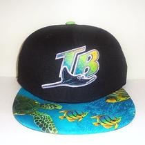 Tampa Bay Rays in the Ocean New Era Strapback Snapback Jordan Retro 8 White Aqua Photo