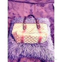 Tan and Gold Gucci Authentic Handbag Tote Good Bag Medium Photo