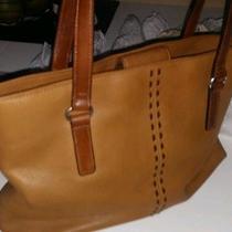 Tan/beige Leather Fossil Tote/shopper Bag Photo