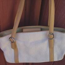 Tan Canvas & Faux Leather Purse Handbag W/great Details (Brandfossil Nice Bag) Photo