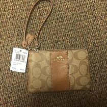 Tan Coach Wristlet New With Tags  Photo