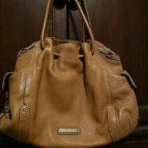 Tan Cole Haan Hobo Style Pebble Leather Large Handbag Lots of Pockets Photo
