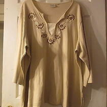 Tan Knit Shirt by Classic Elements   Size 4x Photo