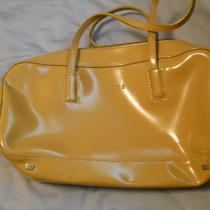 Tan Patent Leather Guess Handbag Photo