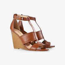 Tan Wedge Soes New Size 8 Express Cognac Wedge Sandal Photo