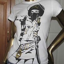 Tank Theory Woman With a Gun Gold Foil Wearable Art T-Shirt Small Photo