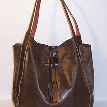 Tano Extra Large Brown Leather Supple Hobo Arm Shoulder Handbag Photo