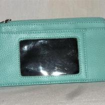 Target Aqua Turquoise Faux Leather Currency Id & Card Wallet Free Shipping Photo