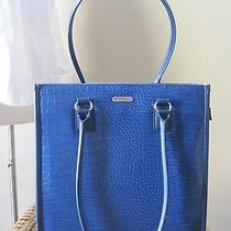 Targus Blue Croc Pattern Computer Tote Bag Photo