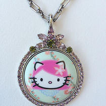 Tarina Tarantino Pink Head Multi-Colored Swarovski Crystal Pendant Necklace Photo