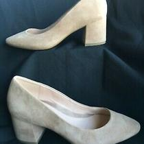 Taryn Rose Suede Pumps Rochelle  Blush Pink Almond Toe 3