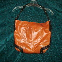 Tasche Cognac Leather Brown Trim Studded Hobo Purse Shoulder Bag Totemint Photo