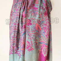 Tassel Fancy Grape Flower Women's 100% Pashmina Scarf Wrap Cape 27