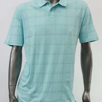 Tasso Elba New Mens Aqua Green Checkered Casual Jersey Polo Shirt Size Xl Top Photo