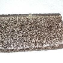 Taupe Haircalf Judith Leiber Overture Clutch Handbag Photo