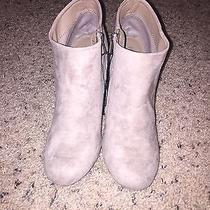 Taupe Suede Booties Photo