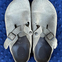 Taupe Womens Boston Birkenstock Clogs Mules- Excellent 145 Photo