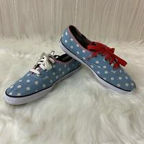 Taylor Swift Keds Women's Size 7.5 Denim and Dots Blue White Red Photo