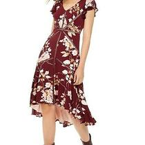 Taylor Womens a-Line Dress Blush Wine Red Size 12 High-Low v-Neck 119 233 Photo