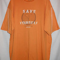 Tb6521  Tommy Bahama Orange Fun to Wear Crew Neck T Shirt Photo