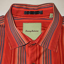 Tb8490 Tommy Bahama Brilliant Colorful Striped High End Dress Shirt Photo