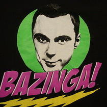 Tbbt the Big Bang Theory Sheldon Cooper Bazinga Tv Show Comedy Print T Shirt S Photo