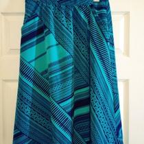 Tea-Length Summer Skirt in Bold Print (Size s) Photo