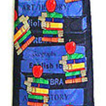 Teacher Books School Subjects Apple Men's Novelty Necktie Neck Tie Steven Harris Photo